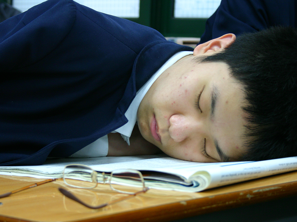 sleeping in school | Elwood 5566